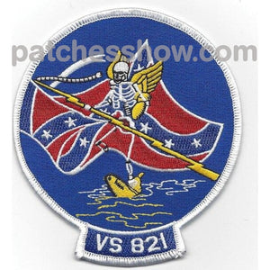 Vs-821 Reserve Sea Control Squadron Patch Military Tactical Patches Embroidered Sew On Or Iron On