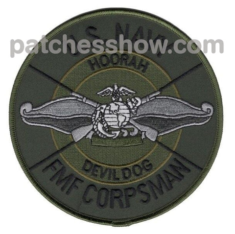 Fmf Fleet Marine Force Corpsman Patches Devil Dog Military Tactical Patches Embroidered Sew On Or
