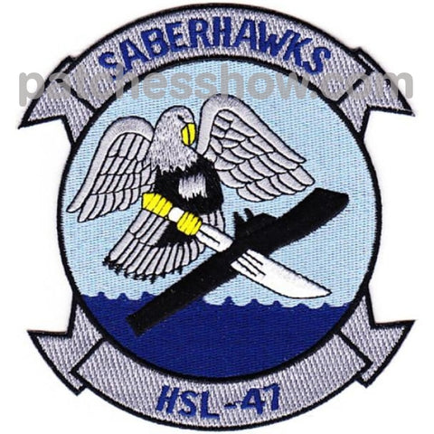 Hsl-47 Patches Saberhawks Military Tactical Patches Embroidered Sew On Or Iron On Velcro Usa