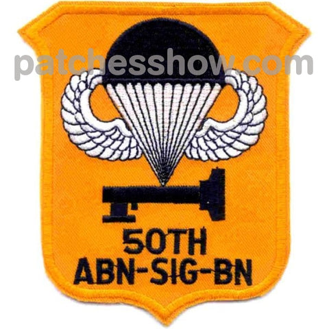 50Th Airborne Signal Battalion Patch Military Tactical Patches Embroidered Sew On Or Iron On Velcro