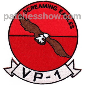 Vp-1 Patch Screaming Eagles Military Tactical Patches Embroidered Sew On Or Iron On Velcro Usa