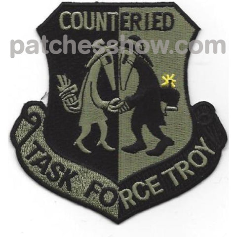 Task Force Troy Counter Improvised Explosive Device Patch Acu Military Tactical Patches Embroidered