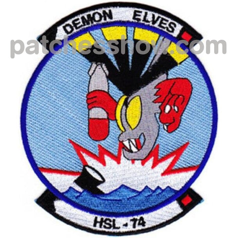 Hsl-74 Patches Demon Elves Military Tactical Patches Embroidered Sew On Or Iron On Velcro Usa