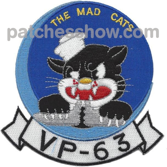Vp-63 The Mad Cats Patch Military Tactical Patches Embroidered Sew On Or Iron On Velcro Usa