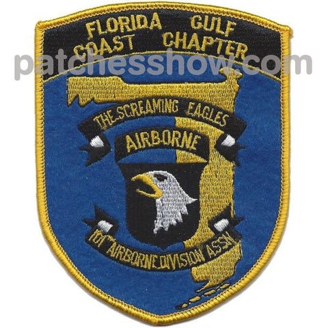 101St Airborne Infantry Division Association Patch Florida Gulf Coast Chapter Military Tactical