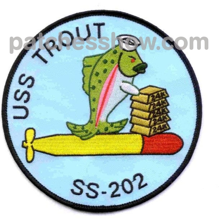 Ss-202 Uss Trout Patch - A Version Military Tactical Patches Embroidered Sew On Or Iron On Velcro