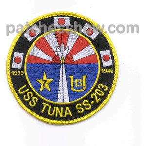 Ss-203 Uss Tuna Patch Military Tactical Patches Embroidered Sew On Or Iron On Velcro Usa Wholesale