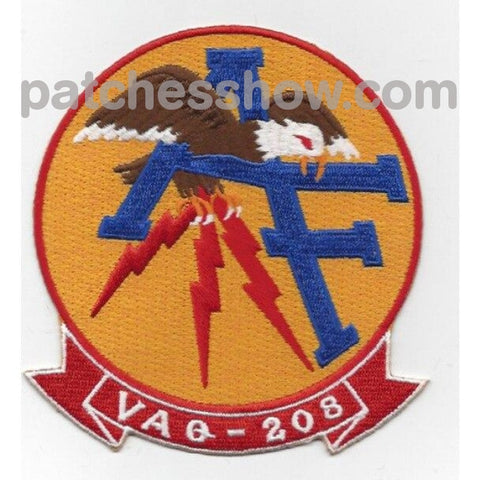 Vaq-208 Vertical Tactical Warfare Squadron Two Zero Eight Patches Military Patches Embroidered Sew