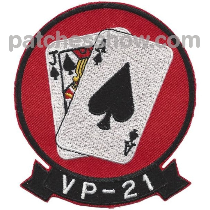 Vp-21 Patrol Squadron Patch Black Jacks Military Tactical Patches Embroidered Sew On Or Iron On