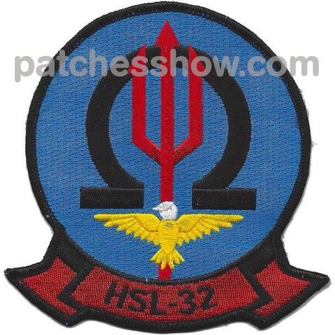 Hsl-32 Helicopter Anti-Submarine Squadron Light Patches Military Tactical Patches Embroidered Sew On