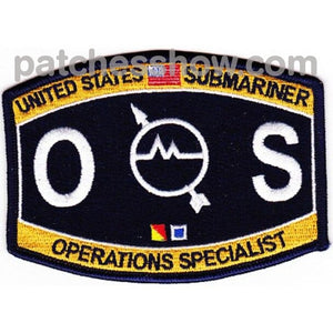 Weapons Specialist Rating Submarine Operations Patch Military Tactical Patches Embroidered Sew On Or