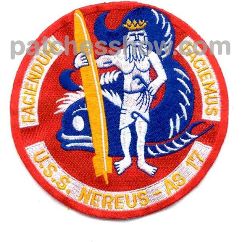Uss Nereus As-17 Patches Military Tactical Patches Embroidered Sew On Or Iron On Velcro Usa
