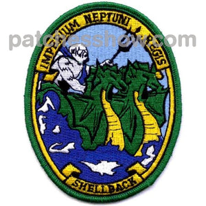 Shellback - Imperium Neptuni Regis Version A Military Tactical Patches Embroidered Sew On Or Iron On