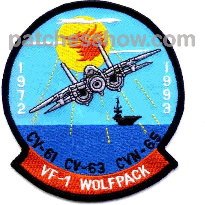 Vf-1 Patch Wolfpack Military Tactical Patches Embroidered Sew On Or Iron On Velcro Usa