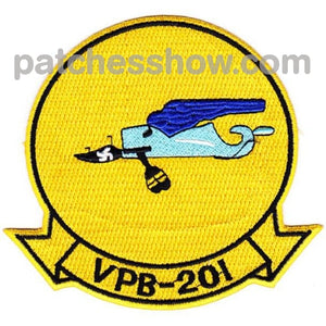 Vpb-201 Aviation Patrol Bombing Squadron Patch Military Tactical Patches Embroidered Sew On Or Iron