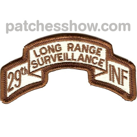 29Th Infantry Division Long Range Scroll Desert Patch Military Tactical Patches Embroidered Sew On
