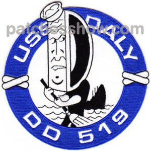 Dd-519 Uss Daly Patch Military Tactical Patches Embroidered Sew On Or Iron On Velcro Usa Wholesale