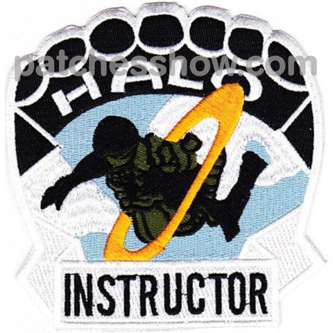 Halo Parachutist Instructor Patch Military Tactical Patches Embroidered Sew On Or Iron On Velcro Usa
