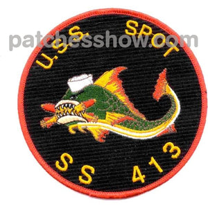 Ss-413 Uss Spot Patch Military Tactical Patches Embroidered Sew On Or Iron On Velcro Usa Wholesale