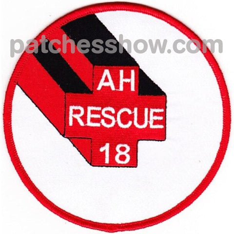 Uss Rescue Ah-18 Auxiliary Hospital Ship Patches Military Tactical Patches Embroidered Sew On Or