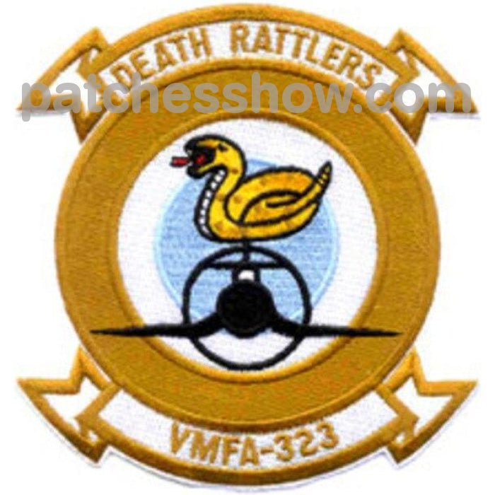 Vmfa-323 Marine Fighter Attack Sqaudron Patch - Death Rattlers Military Tactical Patches Embroidered