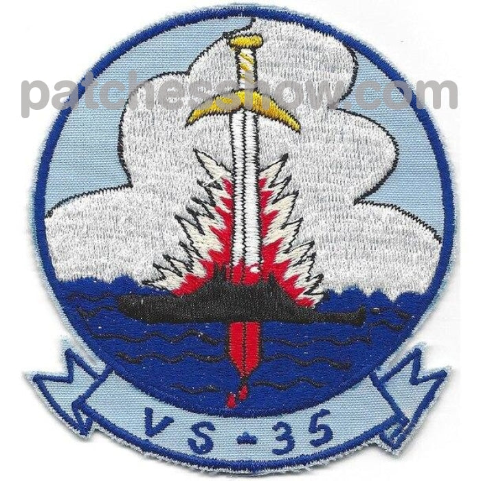 Vs-35 Sea Control Squadron Patch Military Tactical Patches Embroidered Sew On Or Iron On Velcro Usa