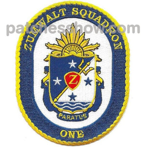 Zumwalt Squadron One Military Tactical Patches Embroidered Sew On Or Iron On Velcro Usa Wholesale