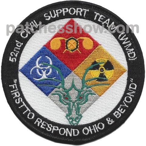 Ohio National Guard 52Nd Civil Support Team Wmd Patch Military Tactical Patches Embroidered Sew On