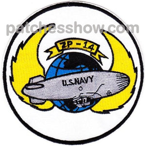 Zp-14 Aviation Airship Patrol Squadron Fourteen Patch - Version A Military Tactical Patches