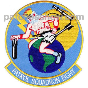 Vp-8 Patch Neptune Riding The World Military Tactical Patches Embroidered Sew On Or Iron On Velcro