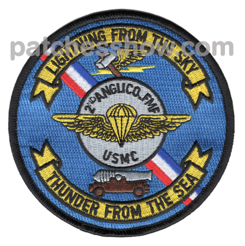 2Nd Anglico Patches - Air Naval Gunfire Liaison Company Military Tactical Patches Embroidered Sew On