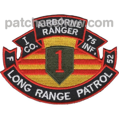 75Th Infantry Regiment I Company Long Range Patrol - Airborne Ranger Military Tactical Patches