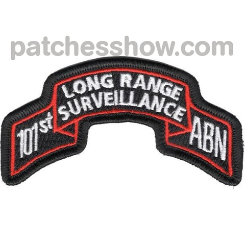 101St Abn Inf Long Range Scroll Patch Military Tactical Patches Embroidered Sew On Or Iron On Velcro