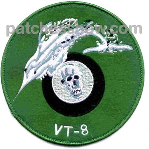 Vt-8 Patch Torpedo Squadron Military Tactical Patches Embroidered Sew On Or Iron On Velcro Usa