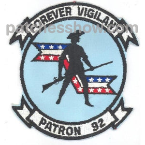Vp-92 Patch Forever Vigilant Patron 92 Military Tactical Patches Embroidered Sew On Or Iron On