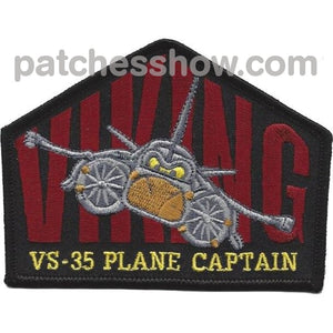 Vs-35 Sea Control Squadron Plan Captain Patch Military Tactical Patches Embroidered Sew On Or Iron