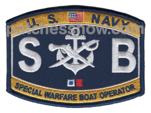 Special Warfare Boat Operator Patch Military Tactical Patches Embroidered Sew On Or Iron On Velcro