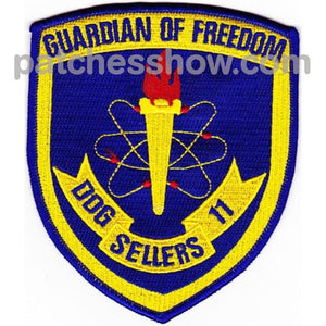 Ddg-11 Uss Sellers Crest Patch Military Tactical Patches Embroidered Sew On Or Iron On Velcro Usa