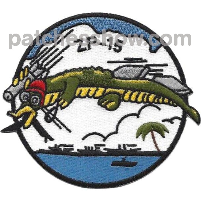 Zp-15 Aviation Airship Patrol Squadron Fifteen Patch Military Tactical Patches Embroidered Sew On Or