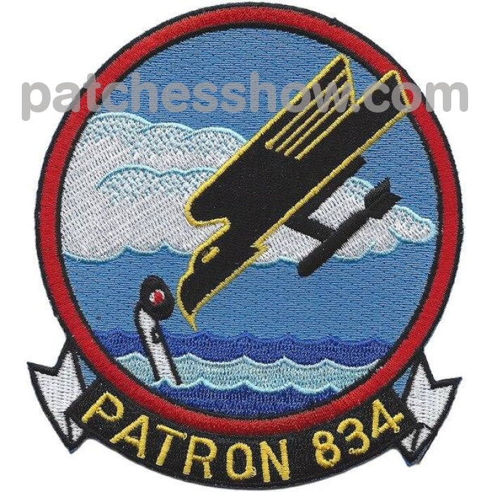 Vp-834 Patrol Squadron Patch Military Tactical Patches Embroidered Sew On Or Iron On Velcro Usa
