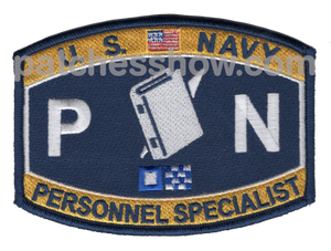 Personnel Specialist Rating Patch - Pn Military Tactical Patches Embroidered Sew On Or Iron On