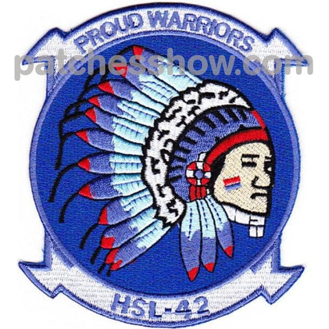 Hsl-42 Patches Proud Warriors Military Tactical Patches Embroidered Sew On Or Iron On Velcro Usa