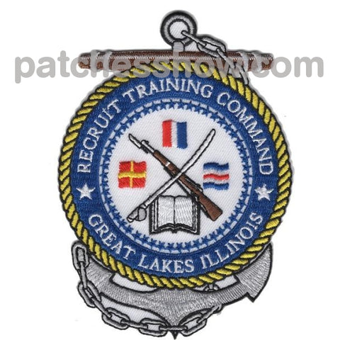 Great Lakes Illinois Naval Recruit Training Command Patches Military Tactical Patches Embroidered