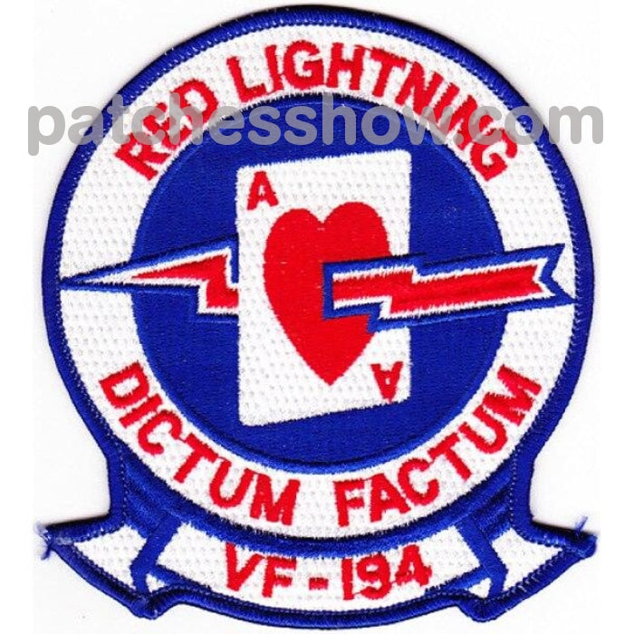 Vf-194 Patch Red Lighting - Version A Military Tactical Patches Embroidered Sew On Or Iron On Velcro