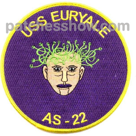 Uss Euryale As-22 Patches Military Tactical Patches Embroidered Sew On Or Iron On Velcro Usa