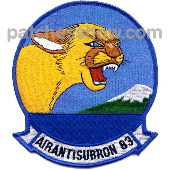 Vs-83 Patch Air Anti-Submarine Squadron Military Tactical Patches Embroidered Sew On Or Iron On