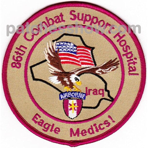 86Th Airborne Combat Support Hospital Patch Military Tactical Patches Embroidered Sew On Or Iron On