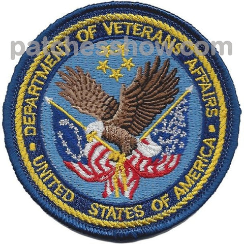 Dept. Of Veterans Affairs Small Patches Military Tactical Patches Embroidered Sew On Or Iron On