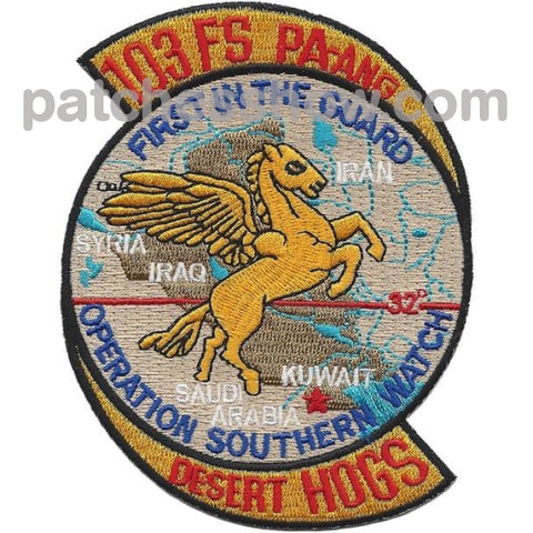 103Rd Fighter Squadron Operation Southern Watch Patch Military Tactical Patches Embroidered Sew On