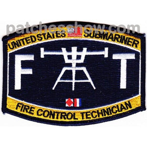 Weapons Rating Submarine Fire Control Technician Patch Military Tactical Patches Embroidered Sew On